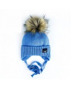 В'язана шапка для дитини (блакитна), Talvi  01667