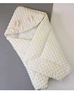 """Ковдра-конверт для новонароджених ,,Ведмежа"""" (айворі), 10933"""