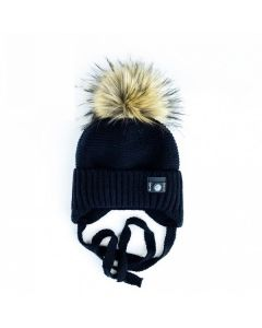В'язана шапка для дитини (чорна), Talvi  01667