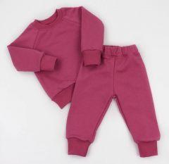 Трикотажний костюм з махровою ниткою всередині (малиновий), Coolton