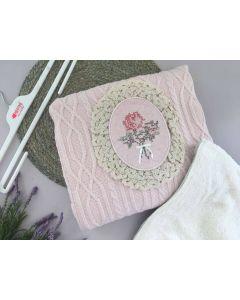 М'який в'язаний плед з плюшевою підкладкою (рожевий), Recos 1484