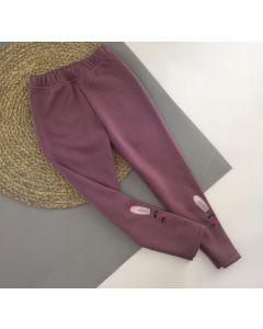 Трикотажні лосіни з плюшевою підкладкою для дівчинки (зайчик), Мамине чадо 105-74