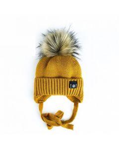 В'язана шапка для дитини (гірчична), Talvi  01667