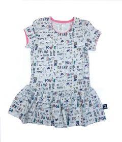 Трикотажне плаття для дівчинки (сіре), 15СК117