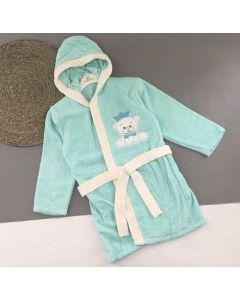 Махровий халат для дитини (ментоловий), 354 Minilori Baby