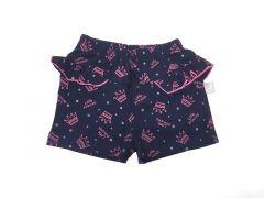 Трикотажні шорти для дівчинки (темно-сині), 7СК005