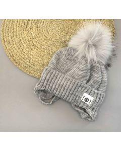 В'язана шапка для дитини (сіра), Talvi  01667