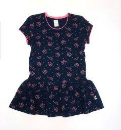 Трикотажне плаття для дівчинки (темно-синє), 15СК117