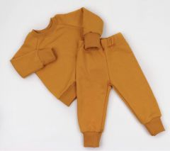 Трикотажний костюм з махровою ниткою всередині (гірчичний), Coolton