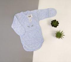 Трикотажная боди-распашонка для ребенка (голубая), Baby City 00-14