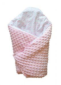 Ковдра-конверт для новонароджених (рожевий), BODIK
