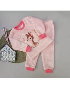 Плюшева піжама для дівчинки (роожева), Lotex 2451-21