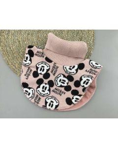 """Трикотажна манішка """"Mickey Mouse"""" з флісом для дитини (рожева пудра), Talvi 01813"""