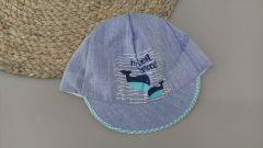 Літня кепка для хлопчика (бірюзовий козирок), Мамина мода Б002