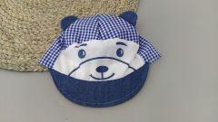 Літня кепка для хлопчика (сині квадратики), Мамина мода Б001