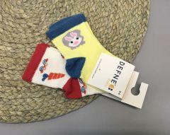 Набір шкарпеток для дитини (2 шт.), морква і заєць, Defne 10555