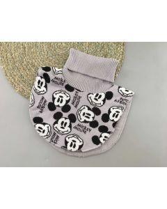 """Трикотажна манішка """"Mickey Mouse"""" з флісом для дитини (сіра), Talvi 01813"""