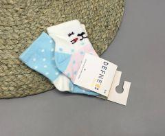 Набір шкарпеток для дитини (2 шт.) (білі з блідо рожевим), котик, Defne 10555