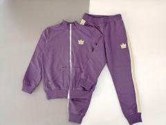 Трикотажний костюм для дівчинки (фіолетовий) КС-34