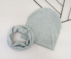 Набір (шапочка і хомут) для дитини, сірий, Talvi 01075