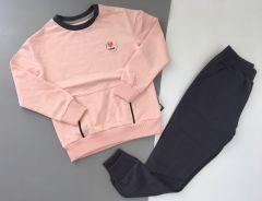 Трикотажний комплект  для дівчинки (рожева пудра), Robinzone КС-374