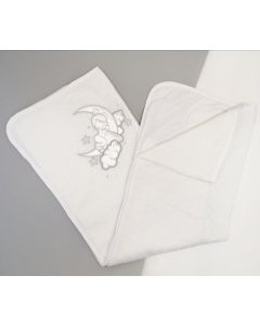 В'язане плед-крижмо для дитини (біле), Мамина мода 012