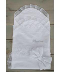 Конверт для новонароджених (білий) 1026/01 Flavien