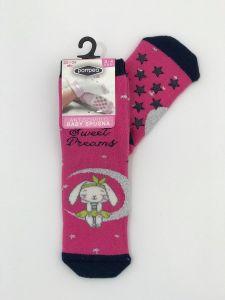 """Теплі шкарпетки для дівчинки """"Rabbit"""" (малиновий), Pompea."""