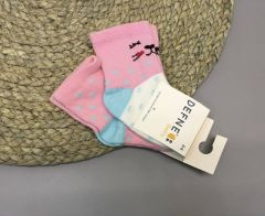 Набір шкарпеток для дитини (2 шт.) (рожеві), котик, Defne 10555