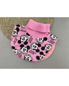 """Трикотажна манішка """"Mickey Mouse"""" з флісом для дитини (рожева), Talvi 01813"""