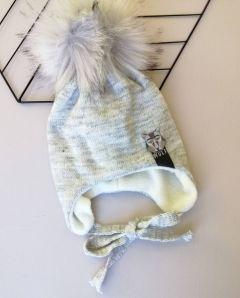 Трикотажна шапка для дитини (світло-сірий меланж), Talvi 00562