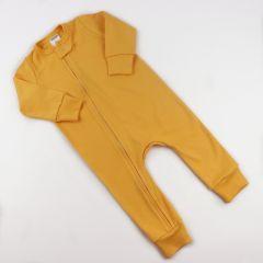 Трикотажний чоловічок з відкритими стопами (жовтий), Coolton