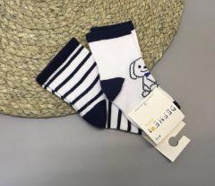 Набір шкарпеток для дитини (2 шт.), песик, Defne 10555