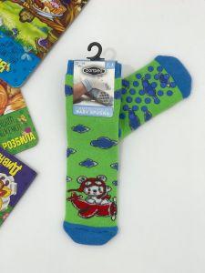 """Теплі шкарпетки для хлопчика """"Bear"""" (зелений), Pompea."""