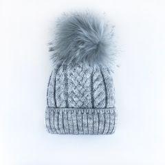 Трикотажна шапка для дитини (світло-сіра), Talvi 01385