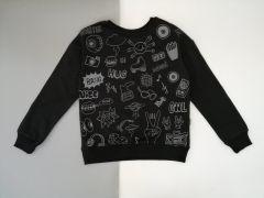 Трикотажний світшот для хлопчика (чорний), Robinzone КФ-641