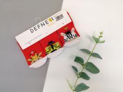 Набір шкарпеток для дитини (3 шт.), тварини на червоному, Defne 10556