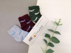 Набір шкарпеток для дитини (3 шт.), кити, Defne 10556