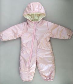 Теплий комбінезон з капюшоном для дитини (світло-рожевий), 8ПЛ067