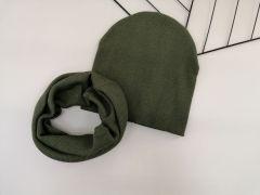 Набір (шапочка і хомут) для дитини, хакі, Talvi 01075