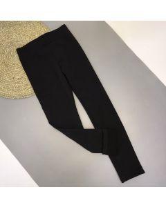 Трикотажні лосіни з флісовою підкладкою для дівчинки (чорні), ЛС-204/205