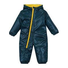 Теплий комбінезон з капюшоном для дитини (темно-смарагдовий), 8ПЛ067