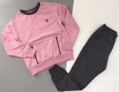 Трикотажний комплект  для дівчинки (рожевий), Robinzone КС-374