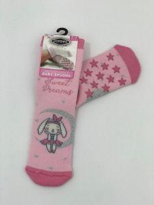 """Теплі шкарпетки для дівчинки """"Rabbit"""" (рожевий), Pompea."""
