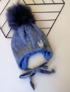 Трикотажна шапка для дитини (синій меланж), Talvi 00562