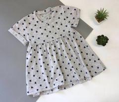 Трикотажне плаття для дівчинки (сірий меланж), Мамине чадо 05-78