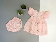 Трикотажний комплект для дівчинки (рожевий), Little Angel 11420/11432