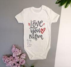 Боді для дитини (Love you mom) (білий), Мамине чадо 51-21