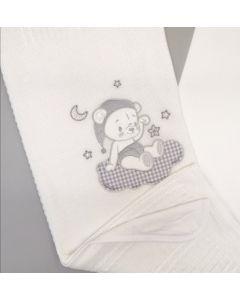 В'язане плед-крижмо для дитини (біле), Мамина мода 013