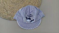 Літня кепка для хлопчика (блакитний козирок), Мамина мода Б002